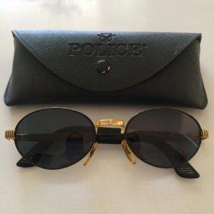Original Police Sonnenbrille in Gold Schwarz