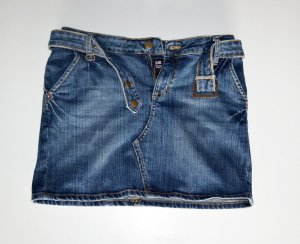Original POLO by RALPH LAUREN Jeans Mini Skirt Minirock Sz 26 wie 34/36