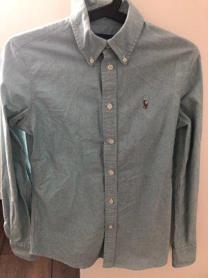 Polo Ralph Lauren Chemise à manches longues gris vert-vert menthe