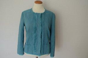 Original PRADA aktuelle Blazer Jacke aus Seide IT 44 D 38 türkis