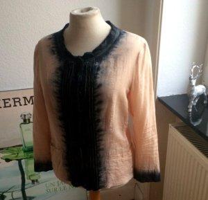 Original PRADA Bluse, puder-grau, Gr 38
