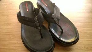 Prada Heel Pantolettes black