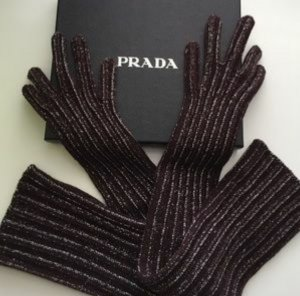original Prada extra lange gestrickte Handschuhe