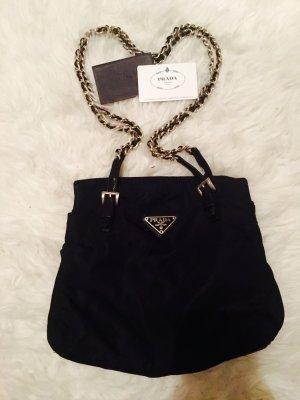Original Prada Handtasche schwarz Nylon gesteppt
