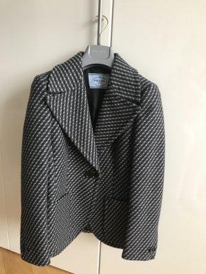 Original PRADA Jacke Jacket Tweed Schurwolle 1250€ NEU grau schwarz 38 S Blazer