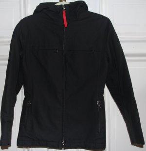 original Prada Jacke schwarz ital. Gr 40 bzw D 34 36 Kapuze Regenjacke w. neu