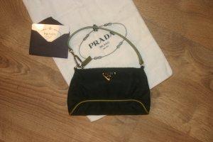 Original PRADA kleine Hand-tasche/Pochette schwarz grün Clutch