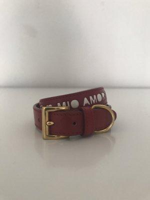 Prada Bracelet en cuir rouge carmin cuir