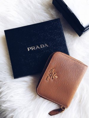 Original Prada Milano Saffiano Leather Zip Wallet
