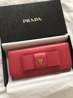Prada Portefeuille magenta-orange doré