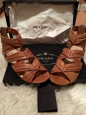 Prada Romeinse sandalen lichtbruin