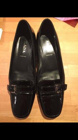 Prada Patent Leather Ballerinas black