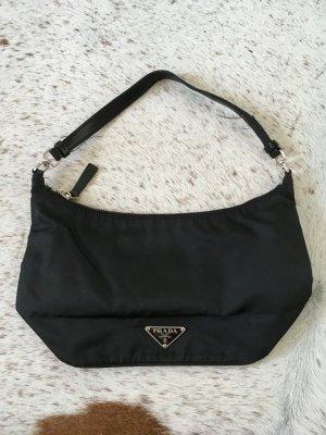 Original Prada schwarz Nylon Schulter Tasche