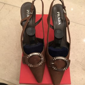 Original Prada Slingback Pumps, Gr. 39,5