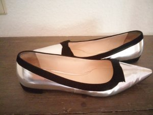 original Prada Slipper metallic silber