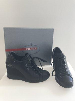 Original PRADA Sneaker mit Absatz dG 37/38 schwarz