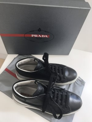 Original PRADA SNEAKERS Leder dG 38 Trend wie neu