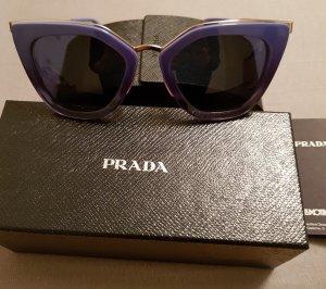 Original Prada Sonnenbrille Cat Eye blau Neu mit Geschenkkarton