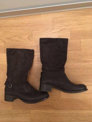 8506882f84 Original Prada Stiefel in dunkelbraunen Leder, Größe 37,5 (passt perfekt  für Größe