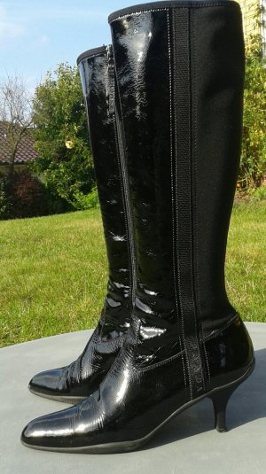 Prada Jackboots black leather