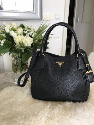 4f89009c42701 Prada Handbag black-gold-colored leather