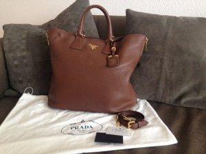 **Original PRADA Vitello Phenix, Leder Shopper, Handtasche, Tasche braun