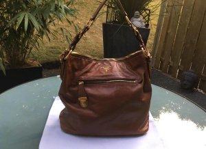 Prada Crossbody bag cognac-coloured leather