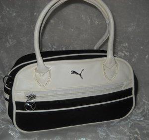 Original PUMA Handtasche Henkeltasche Tasche Bag Shopper schwarz weiß