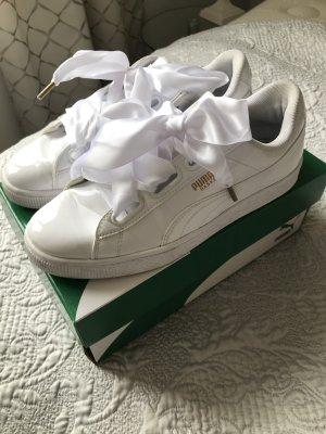 Original Puma Sneaker Turnschuhe weiß Lackleder 40