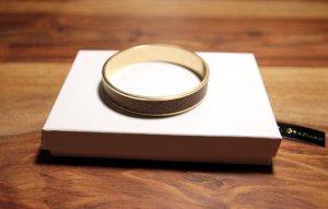 Original R.J. Graziano Bangle Armreif Armband gold snakeskin Optik - neuwertig