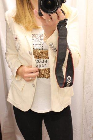 Original Ralph Lauren Blazer in weiß / Creme mit silber Emblem