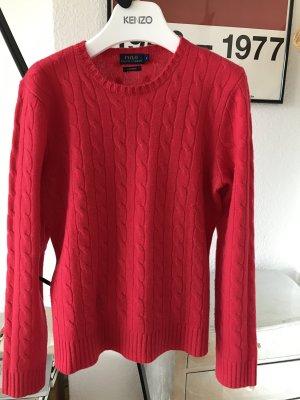 Original RALPH LAUREN Cashmere Pullover pink Zopfmuster Gr. M L NP 299€  Polo