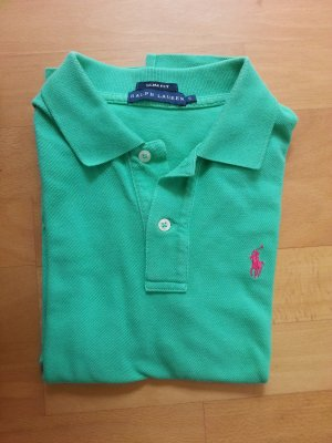 Original Ralph Lauren Polo Shirt!! XS grün pink Slim Fit