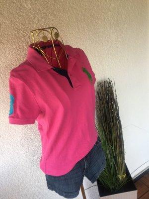 Original Ralph Lauren Poloshirt großer Reiter pink M