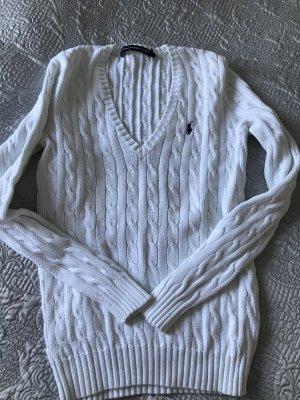 Original Ralph Lauren Pullover Zopfpullover weiß M