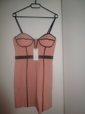 Original Rare London BodyDress New 38 / Medium Nude Rosa Bondage Trend#