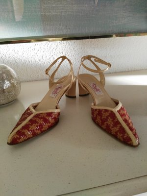 Slingback Pumps cream-russet