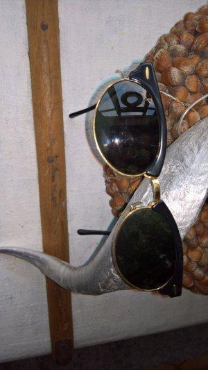 Original RAY BAN Clubmaster Bausch& Lomb Sonnenbrille schwarz RETRO