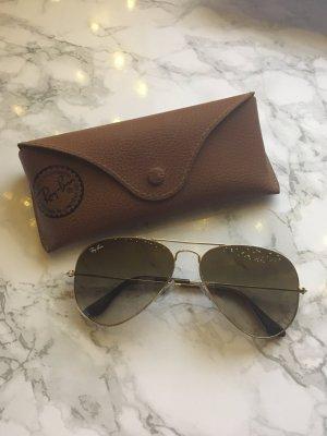 Original Ray Ban Pilotenbrille braun/gold