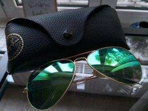 Original Ray Ban Polarized Sonnenbrille Grün Gold