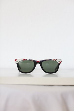 Original Ray Ban Sonnenbrille Wayfarer Limited Edition Stripes Gestreift Vintage Look
