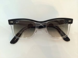 Original Ray Ban Wayfarer II schwarz/transparent