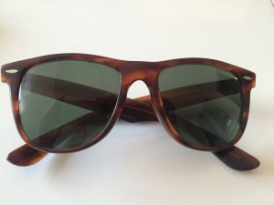 Original Ray Ban wayfarer Sonnenbrille Gläser grün Gestell braun