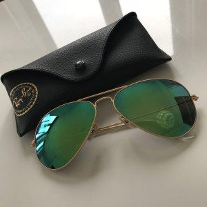 Original Ray Bay Aviator Sonnenbrille grün/blau