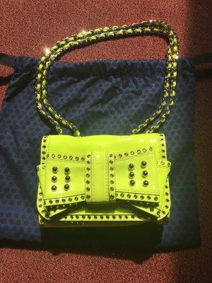 Original Rebecca Minkoff Tasche Lackleder neongelb