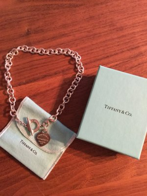 Original Return to Tiffany Halskette mit graviertem Knebelverschluss, Silber