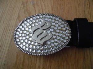 Original Rocawear Ledergürtel mit Strassschnalle aus USA