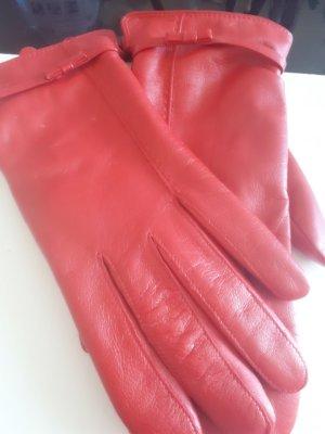 Roeckl Leren handschoenen baksteenrood