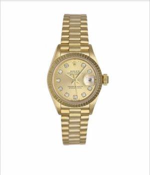 Original Rolex Datejust 26 mm Gelbgold mit Diamant Ziffern