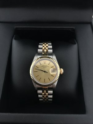 Rolex Self-Winding Watch silver-colored-gold-colored